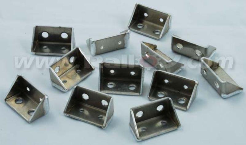 RAL028 - Set of Twelve mud flap brackets 2mm thick