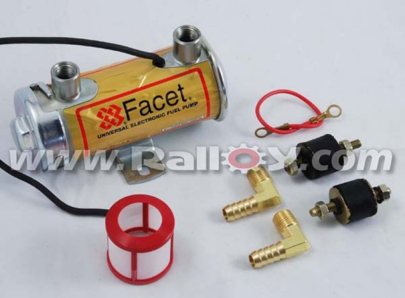 RAL3050 - Facet Red Top Pump & Fitting Kit